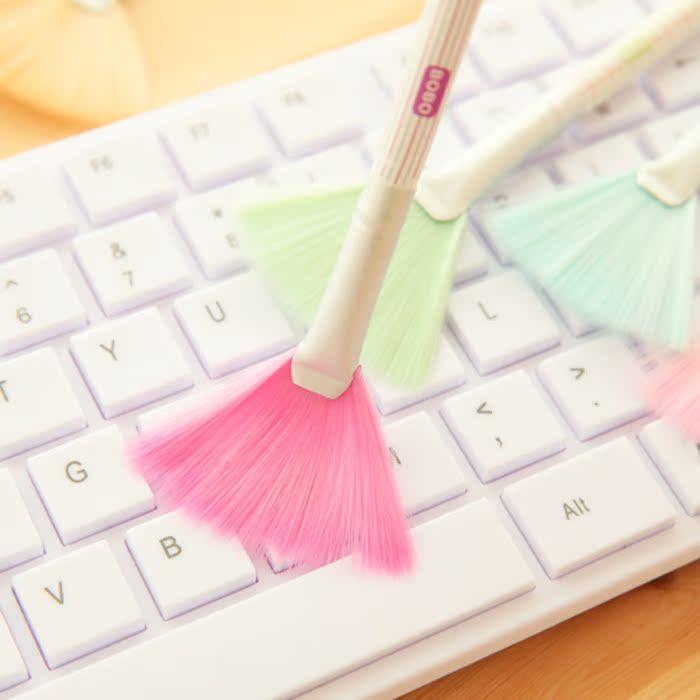 Иеорглиф ля женских имён кабина мода чистый мультики клавиатура щетка творческий милый очистка щеткой компьютер щетка экран щетка небольшой метла