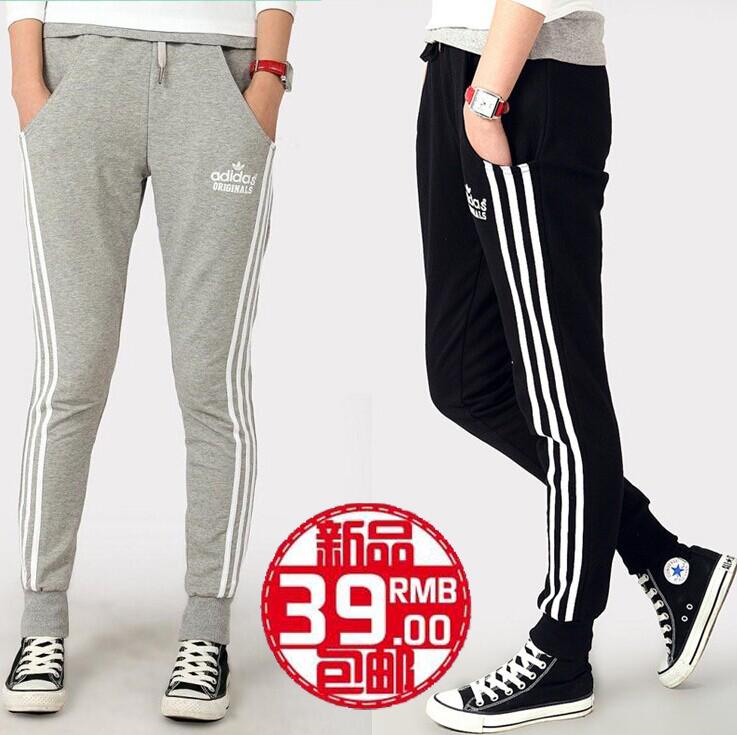 Весна для спорта и отдыха брюки тренировочные брюки девушка корейской версии, что потоки самостоятельно исцелить ног студент Вэй чистого хлопка гарем брюки брюки