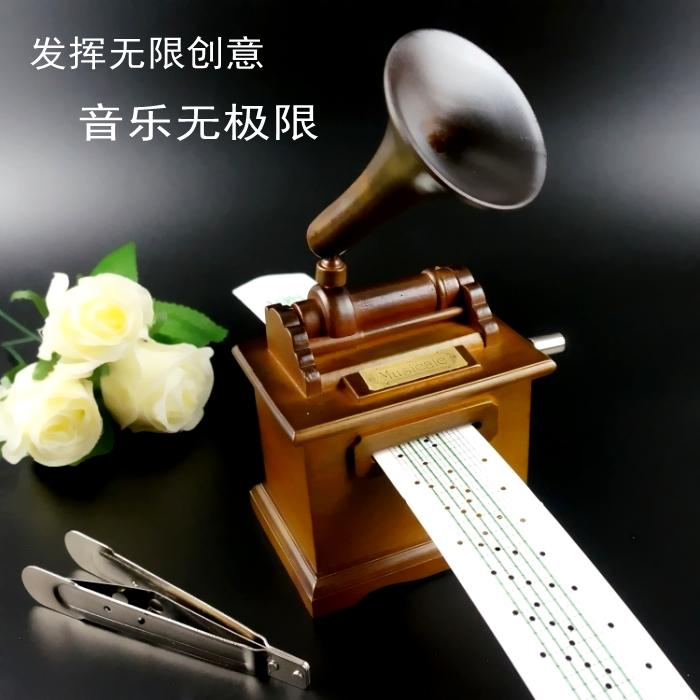 Ретро DIY деревянный рука бумага группа оставаться звук машинально музыкальная шкатулка шанхай, пекин, тяньцзинь музыкальная шкатулка творческий день святого валентина день рождения подарок подруга