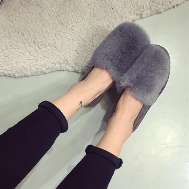 Электронной почте Корейский кролика меха леопарда печати свет осенью и зимой плюс хлопка совок обуви обувь Дуг обувь мода
