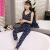 Wind small fresh round neck leotard 2017 floral print jumpsuit harem pants college female summer trousers pantyhose