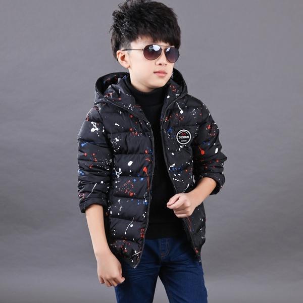 童装冬装新款男童棉衣外套短款 韩版中大童儿童棉服加厚棉袄
