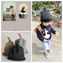 2015 new winter South Korea's private wool fluorescent one they called bean ball cap Super of men and women knitting baby hats
