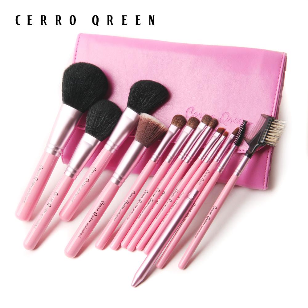 CerroQreen макияж художник помочь вам настроить кисти для макияжа кисти 13 штук набор розового натурального дерева ручка