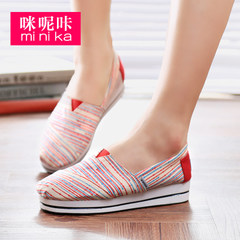 Microphone Ta-fall 2015 sneakers girl Korean version flows air lazy low casual shoes with flat shoes women's shoes
