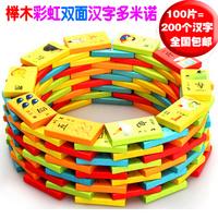 100 двухъядерный поверхность китайский иероглиф китайский сын домино кость карты ребенок пиньинь грамотность цифровой строительные блоки обучения в раннем возрасте игрушка учить инструмент