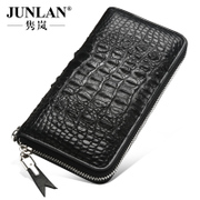 Chun LAN genuine crocodile man long bi-fold leather wallet men holding Bao Nan handbag zipper card wallet
