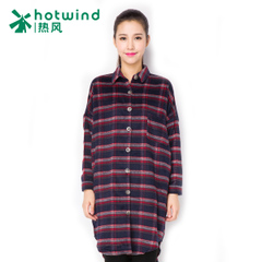 Hot bats long Plaid Shirt women long sleeves Korean version of the spring and autumn new style blouses 02H5705