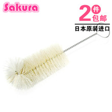 Japan bought imported from Betta beta bottle brush Senior natural white horse hair