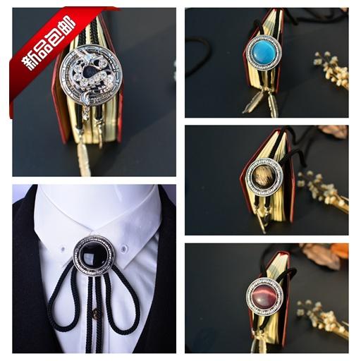Европа и новый прилив мужской Friar Пуаро эксклюзивные первый галстук БОЛО Винтаж личности привело галстук ГАЛСТУК веревки