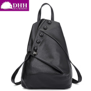 DHH Europe and new simple cow leather bag leather women bag fashion backpack large bag backpack sports backpack