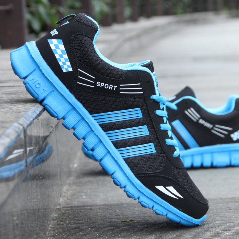 Spring mens sports shoes mesh breathable mens running shoes mens travel shoes students original shoes sports shoes