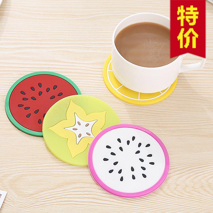 Силиконовые фрукты Coaster Fruit Shape Coaster Creative нескользящие Теплоизоляционная подставка
