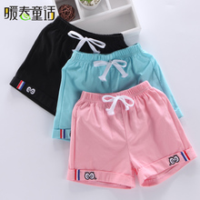 Girls Shorts Summer 2019 New Kids Sports Boys Thin Elastic Outside Wear Foreign Style Children's Trousers Summer Clothes