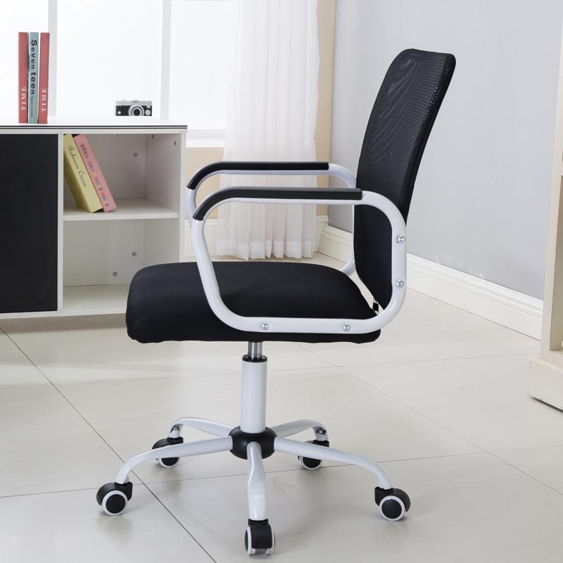 ~利邁~電腦椅家用網布辦公椅學生靠背椅宿舍升降轉椅弓形座椅子