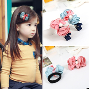 Know Richie hit children''s hair accessories fashion color flower string pearls girls hair clips side clips hair clip flower head jewelry