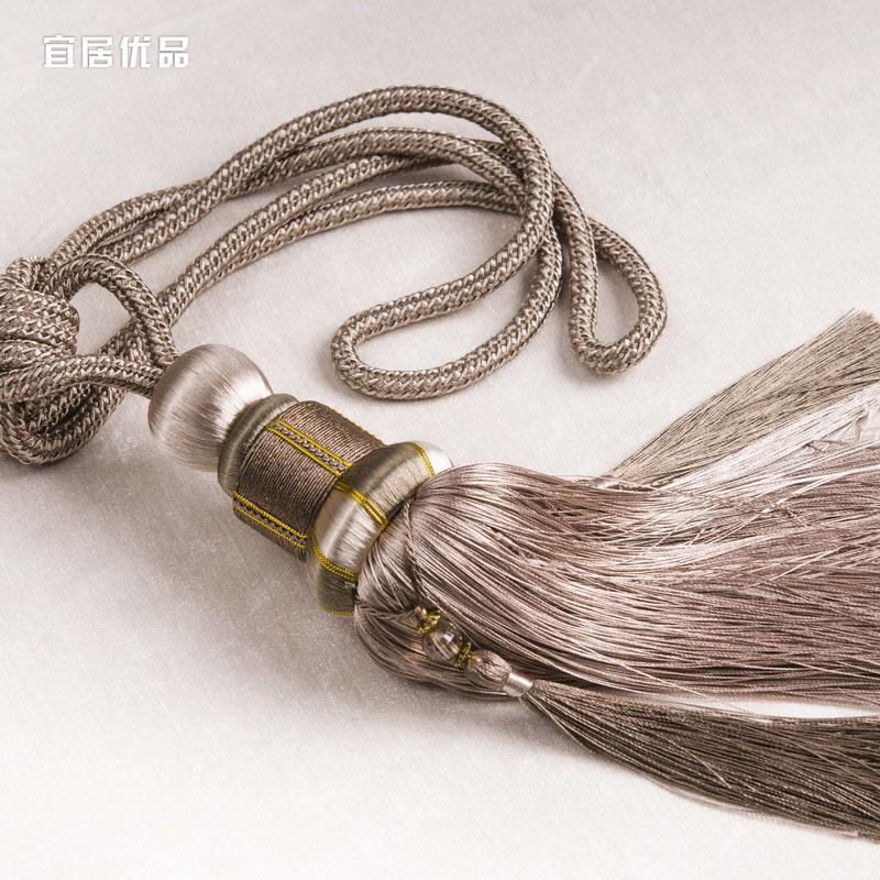 [Лувр 3] high-end ручной шторы бандаж стиль занавес связали веревку, привязанную шаров висит шарики