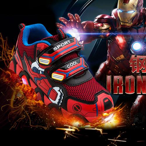 Дети обувь мальчиков, девочки туфли 2015 весной освещения сетки обувь, Детская обувь, Детская обувь новой волны Корейский