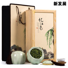 Tieguanyin ceramic jar of gift boxes Super luzhou-flavor tieguanyin tea solid wood gift boxes Five tigers have jiangnan