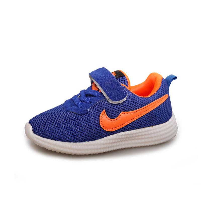 兒童男式板鞋男童網鞋透氣 潮女童鞋 鞋網麵中童鞋子跑步鞋