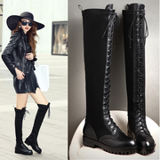 2015 new straps stretch boots low in Europe and America in autumn and winter boots over the knee boots women''''''''s boots boots
