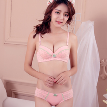 81336318bd Package mail girl bra set Japanese students small chest small pure and  fresh and lace underwear