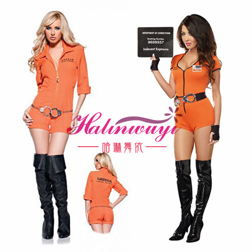 Halloween Party Costume Police Costume European and American policewoman spy costume role play bar DS performance Costume