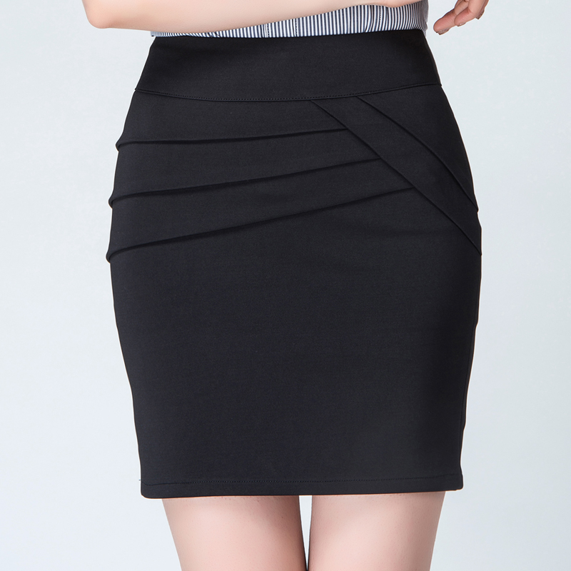New professional womens slim skirt with buttocks and elastic skirt