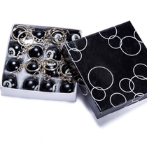 2.5CM Black eight key fastener billiards theme Keychain Decorative buckle whole box 16 balls a box