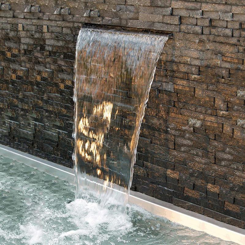 Германия OASE вниз вода водопад вода декоративный вода вид стена вода занавес стена сад пруд пейзаж проточная вода фон стена