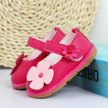 Children's shoes of new fund of 2015 autumn female baby toddler soft bottom shoes single girl lovely flowers small leather baby shoes