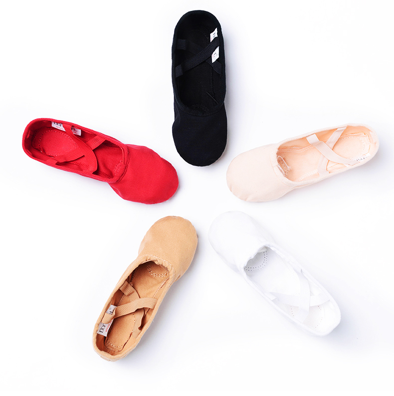 Genuine package mail childrens dance shoes cloth head cats paw soft sole training shoes female ballet shoes bodybuilding shoes Yoga shoes