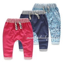 The spring and autumn period and the new children's pants Men and women baby haroun pants Private slacks Big children pp pants pants