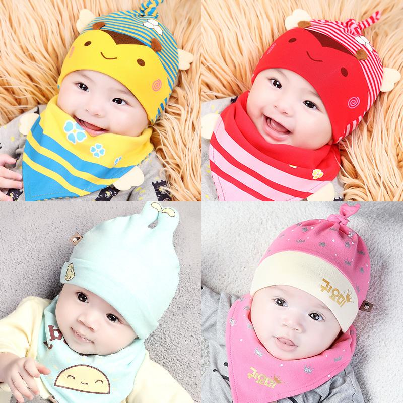 Ребенок шляпа весна 0-3-6-12 месяцы новорожденных крышка шина крышка тонкий летний только из сырье мужской и женщины ребенок крышка
