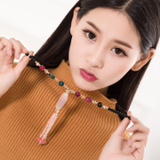 Korean fashion retro Bohemian Korea decorated fall/winter accessories agate necklace sweater chain long necklace