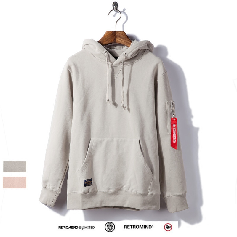 Autumn and winter ribbon lovers wear Plush Hooded Sweater mens coat Hoodie sports fashion brand Pullover thickened bottomed shirt