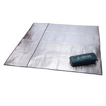 Outdoor mat picnic mat 200*200 mat double sided aluminum foil tent for two moisture-proof cloth bags