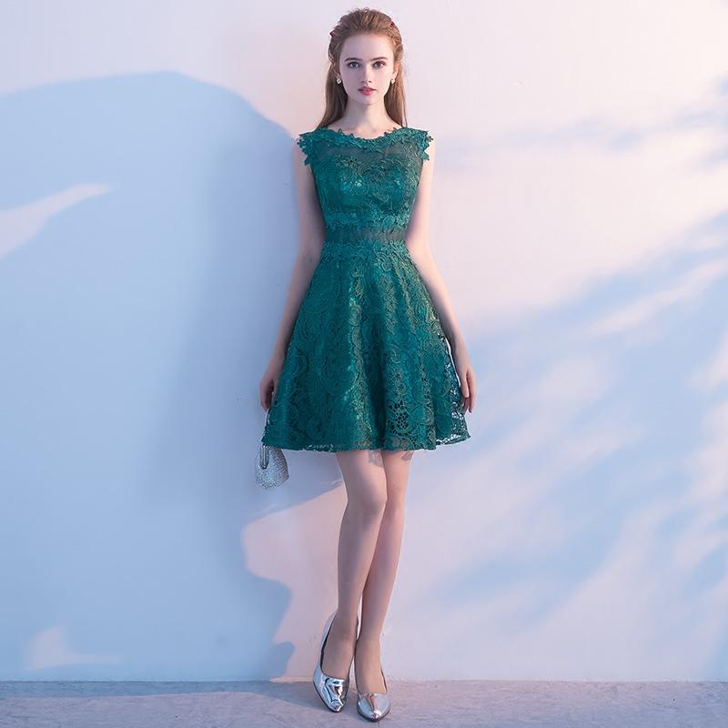 晚礼服2018新款夏季短款时尚韩版优雅显瘦聚会宴会小礼服连衣裙女