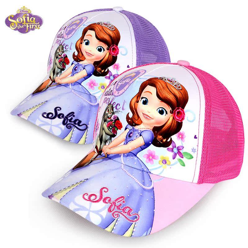 Бейсбол весна/лето сетки девушки крышка Hat ЧАО Софии Disney Принцесса Детская одежда Sun колпачок