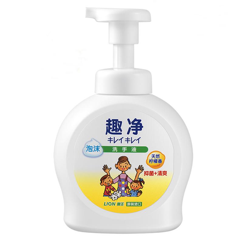 Импорт из южной кореи лев интерес чистый пена мойте руки жидкость 490ml освежающий узда бактерии природный лимон