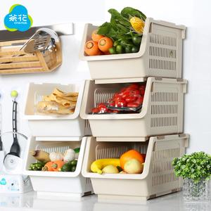 茶花厨房置物架蔬菜...