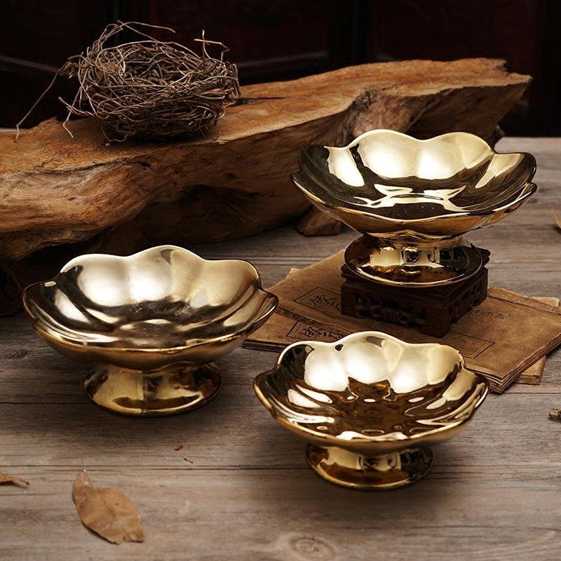 Будда инструмент статьи будда зал будда инструмент керамика для блюдо гуань-инь бог богатства отец для будда фрукты фрукты блюдо ходули дань блюдо для будда