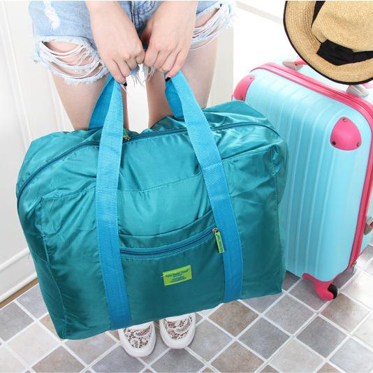 Portable foldable travel bag ultra light waterproof travel bag for women