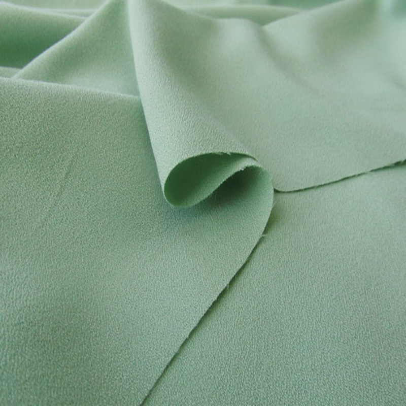 Four sides elastic ramie chiffon fabric 100D thickened elastic pearl chiffon dress top fabric