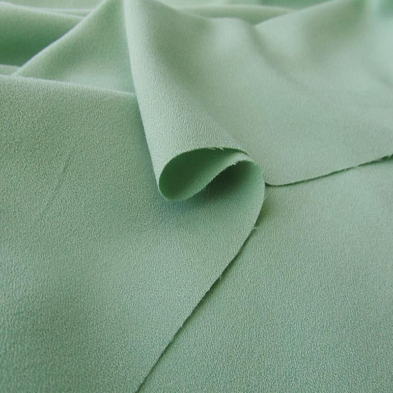 四面弹力乱麻雪纺布料100D加厚弹力珍珠雪纺连衣裙上衣面料