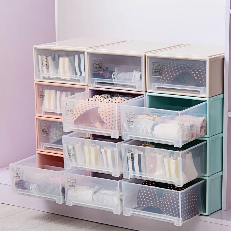Для хранения белья коробка ящик гардероб больше сетка упакованные в колготки сын лифчик коробка домой разбираться пластик ящик большой