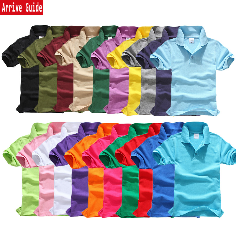 AG mens and womens solid color blank polo shirt loose large short sleeve T-shirt Lapel group work clothes customization