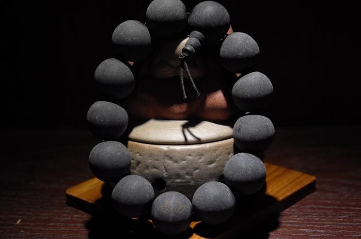 西藏直发拉扎诺布8mm108颗18mm20mm圆珠药珀手串佛珠包邮