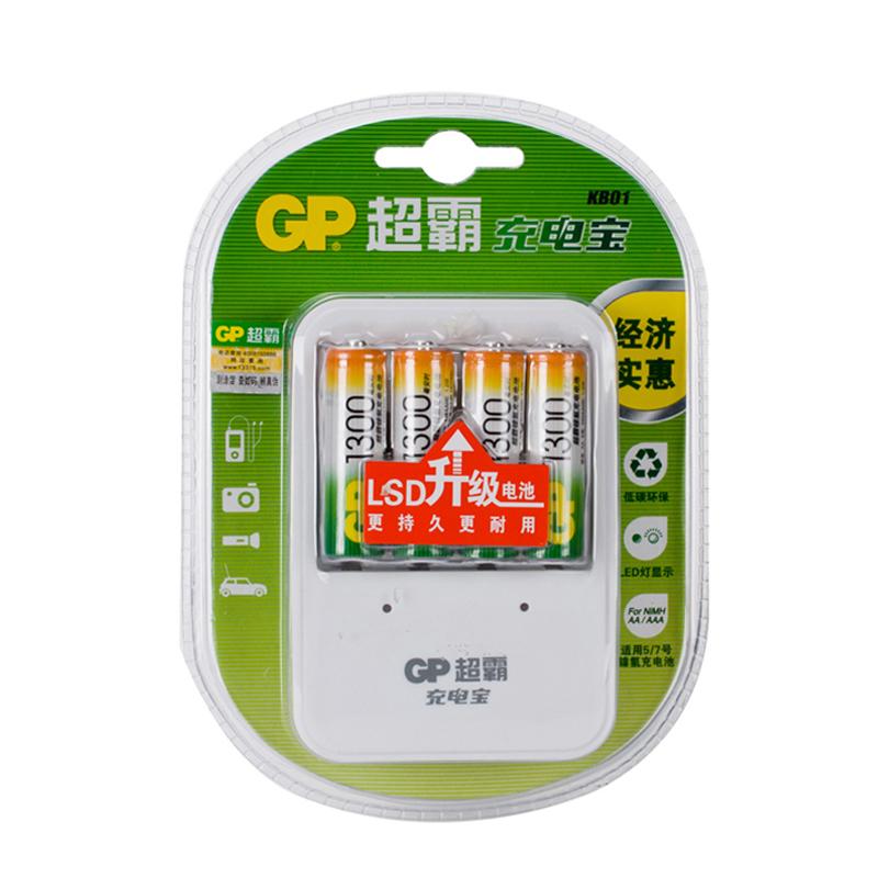 ~天貓超市~GP 超霸充電寶五號7號充 含4節5號1300毫安電池