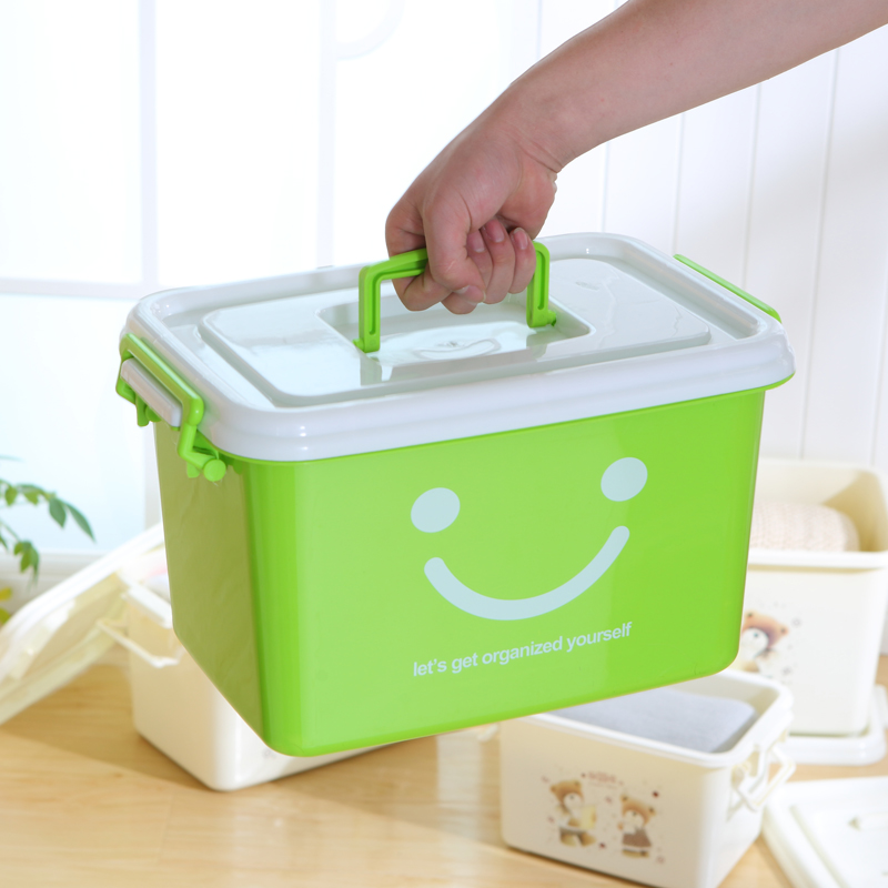 特大号塑料收纳箱衣服整理箱加厚清仓大号收纳盒有盖衣物储物箱子正品保证